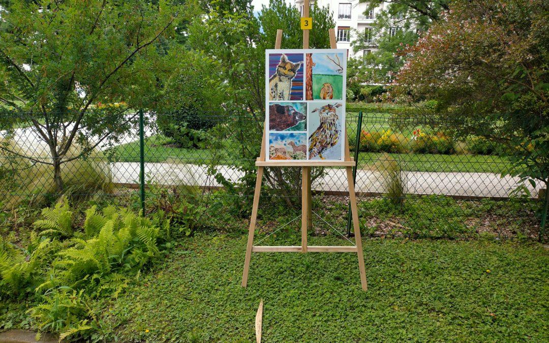 Les créations de nos élèves exposées au jardin des plantes à Grenoble